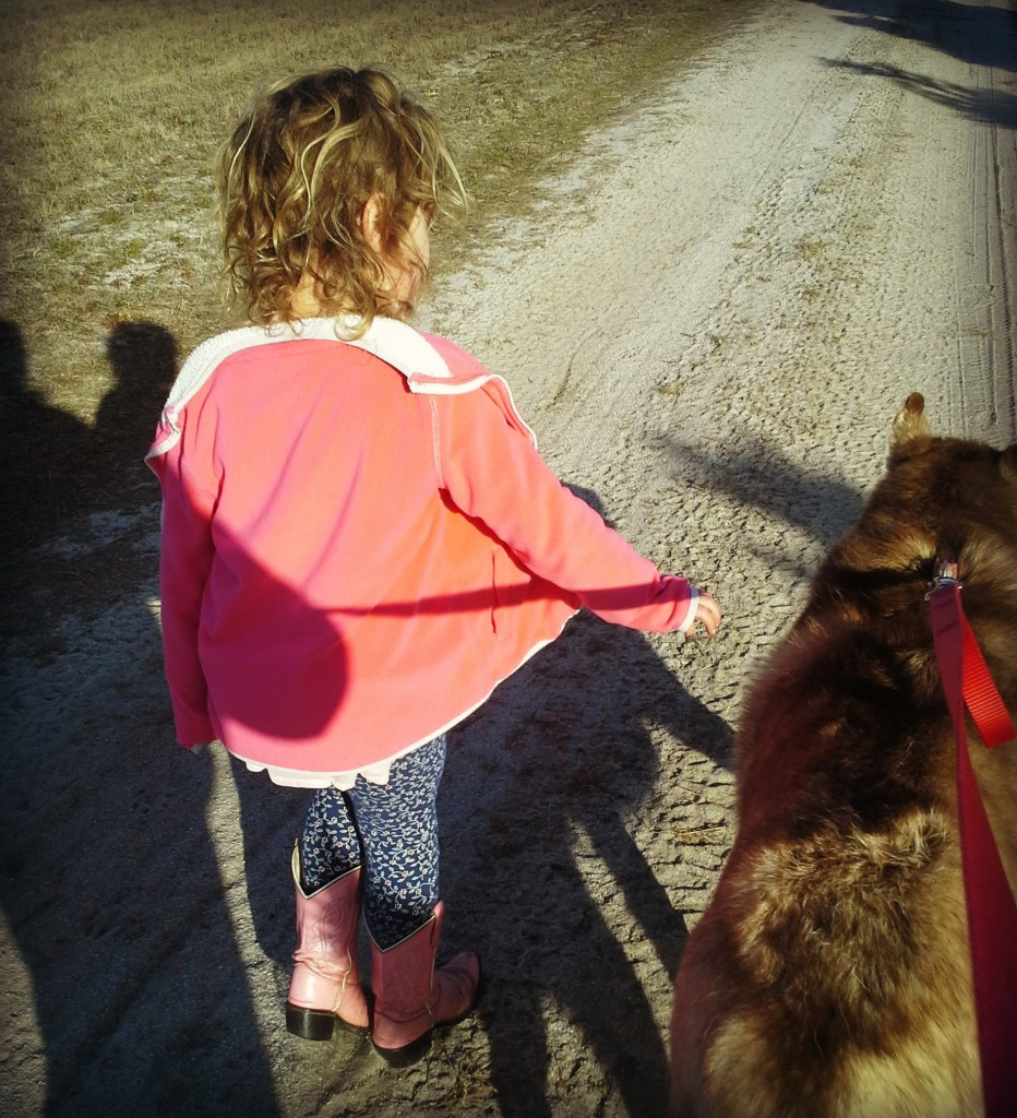 White Dog Farms Nuk and girl with pink boots 11023017