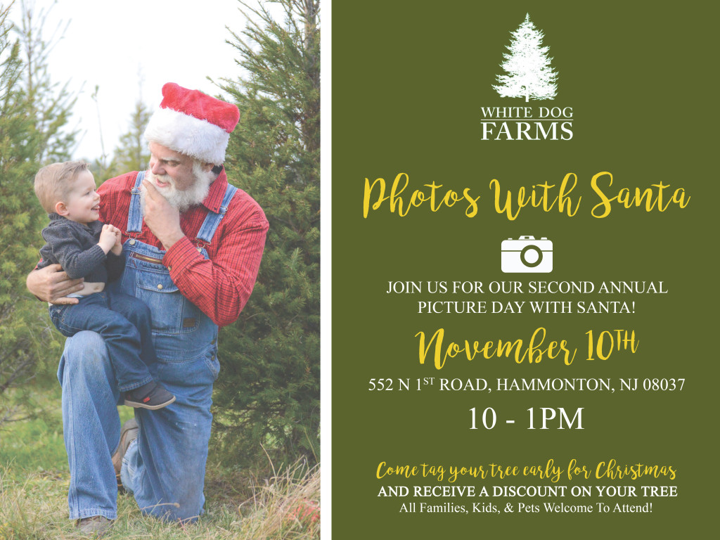 Come on out for our second annual pictures with Santa day!