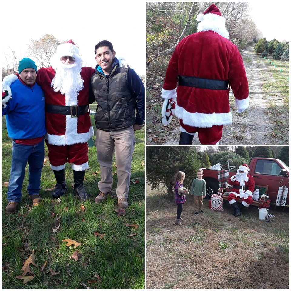 A few pictures from our Pictures with Santa day at the Christmas Tree Farm!